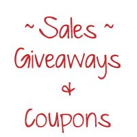 Giveaways, Sales, and Coupon Codes!