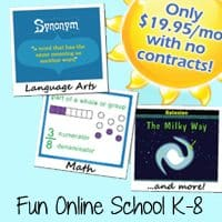 Fun, Affordable Online Curriculum K-8 ~ No Contracts, Multi-Student Discount!