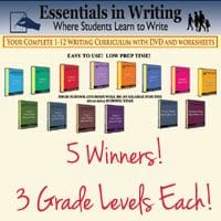CLOSED Giveaway ~ DVD Writing Curriculum: 5 Winners – Choice of 3 Grade Levels Each!