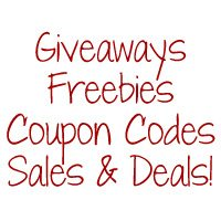 Coupon Codes, Freebies, Giveaways, & Sales!