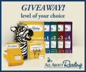 Enter to win a set of All About Reading materials for the level of your choice!