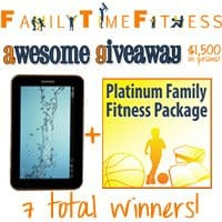 $1,500 in Prizes! Win a Tablet & Platinum Package from Family Time Fitness!