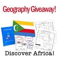 Closed: Geography Giveaway ~ Discover Africa Comprehensive Unit Study & Customizable Notebooking Packet