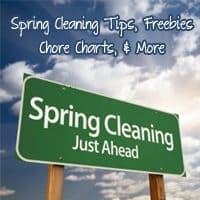 Spring Cleaning Tips and First Day of Spring Freebies, Printables, & More!