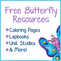FREE Butterfly Resources: Lapbooks, Coloring Pages, Unit Studies, and More!