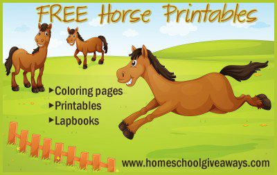 Horse Themed Printables Freebies and Deals