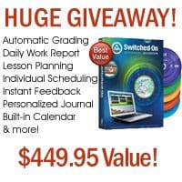 CLOSED Giveaway ~ Switched on Schoolhouse Complete 5-Subject Set Valued at $449.95!