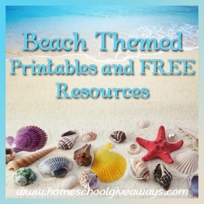 Beach Themed Printables and FREE Resources!