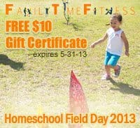 Our Homeschool Field Day + Phys Ed Curriculum Gift Certificate for Family Time Fitness!