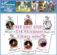 OVER – Subscriber Only Freebie! History Unit Study (Heroines of the Past) $14.95 Value!