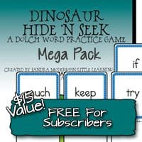 OVER – Subscriber Only Freebie – Dolch Word Practice MEGA PACK ~ $15.00 VALUE!