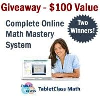 Tablet Class Math Giveaway! Win A Great Middle/High School Math Course ~ $100 Value 2 Winners!