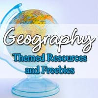 Geography Themed Resources and Freebies