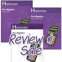 Featured Curriculum Review and Sale of the Week: Horizons Pre-Algebra