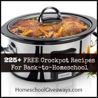 225+ FREE Crockpot Recipes For Back-to-Homeschool