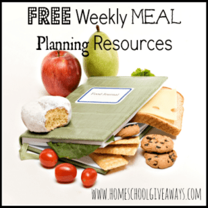 Free Weekly Meal Planning Resources