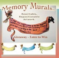"OVER –  Giveaway – Enter to win ""Two By Two Art's Memory Mural"""