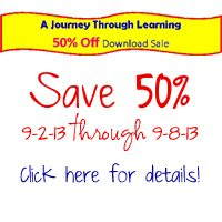 A Journey Through Learning 50% off Sale Through 9-8-13