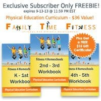 OVER – Subscriber Only FREEBIE – Physical Education Curriculum + Gift Certificate!