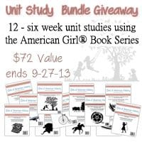 CLOSED Giveaway ~ Girls of American History Curriculum – 12 Unit Studies using the popular American Girl® book series