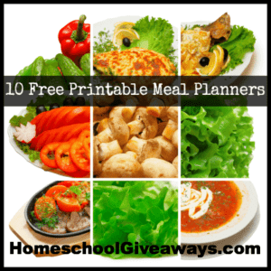 10 Free Printable Meal Planners