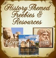 History Themed Freebies and Resources: Six Week Series Wrap- Up