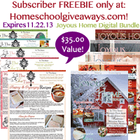 OVER – Subscriber Only Freebie Bundle ~ Joyous Home Journal & The Tea Times – $35.00 Value!