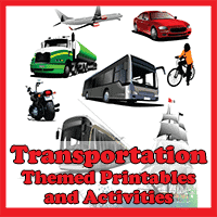 Transportation Themed Printables and Activities