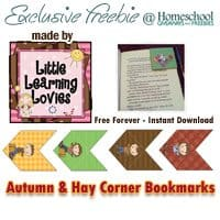 Exclusive Freebie – Autumn & Hay Corner Bookmarks
