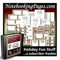 NotebookingPages.com Christmas Sale, Freebies, and Giveaway!