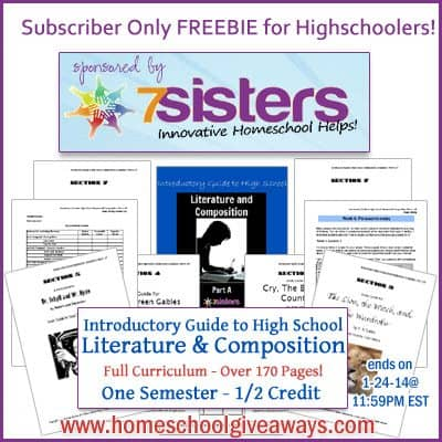 OVER – Subscriber Only FREEBIE – High School Literature Curriculum