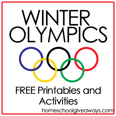 FREE Winter Olympic Printables