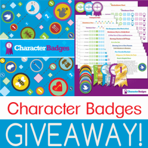 Character Badges Giveaway