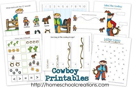 cowboy preschool theme free cowboy preschool unit study pack 320