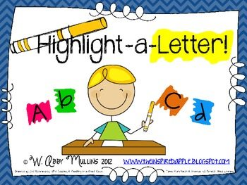 FREE Highlight a Letter Printable Activity Mats   Homeschool Giveaways