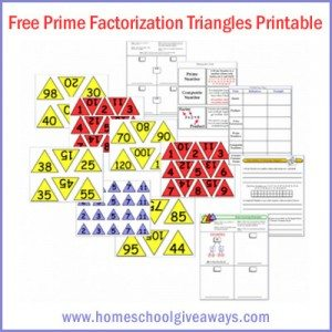 math worksheet : free prime factorization triangles printable upper grades  : Math Worksheets Prime Factorization