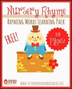 rhyming words pack pin