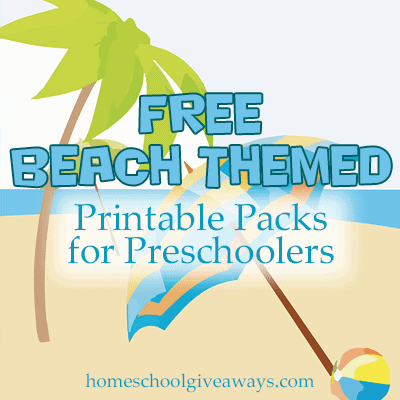 FREE Beach Themed Printable Packs for Preschoolers