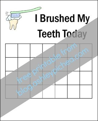 Free-Printable-Teeth-Brushing-Chart