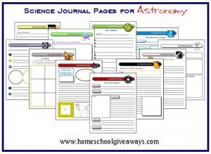 science journal pages www.homeschoolgiveaways.com