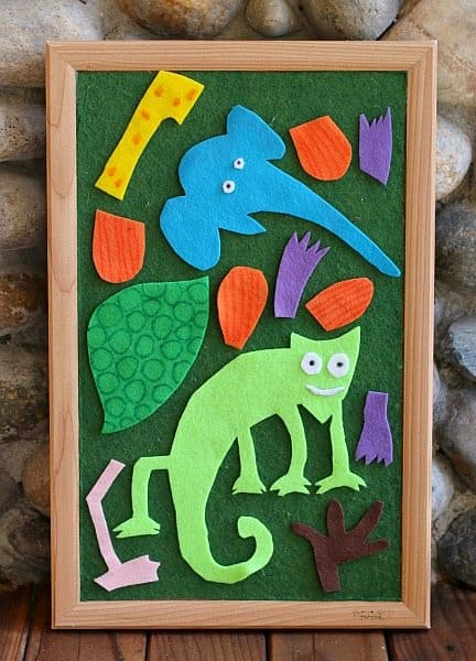 eric carle chameleon template - free pattern the mixed up chameleon felt set