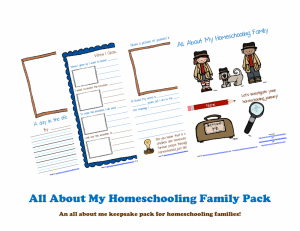 Free Homeschool Family Printable