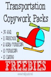 Transportation-Copywork-Printables-FREEBIES