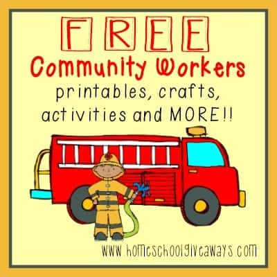 FREE Community Workers printables activities MORE