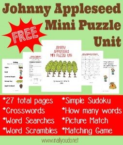 FREE Johnny Appleseed Mini Puzzle Unit