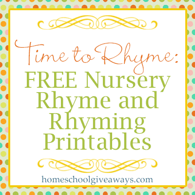 here are some cute nursery rhyme printables
