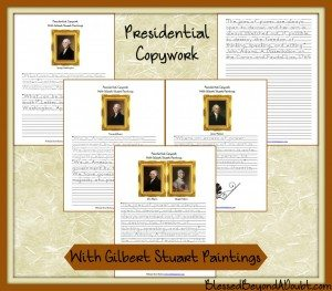 Presidential-Copywork-with-Gilbert-Stuart-Paintings-final3-1024x898