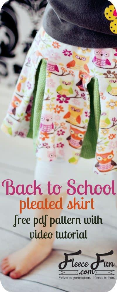 free-skirt-pattern-pleated-skirt