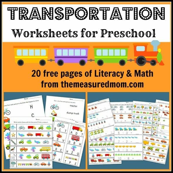 free preschool transportation themed worksheets. Black Bedroom Furniture Sets. Home Design Ideas