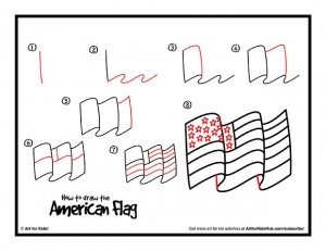 how-to-draw-the-american-flag